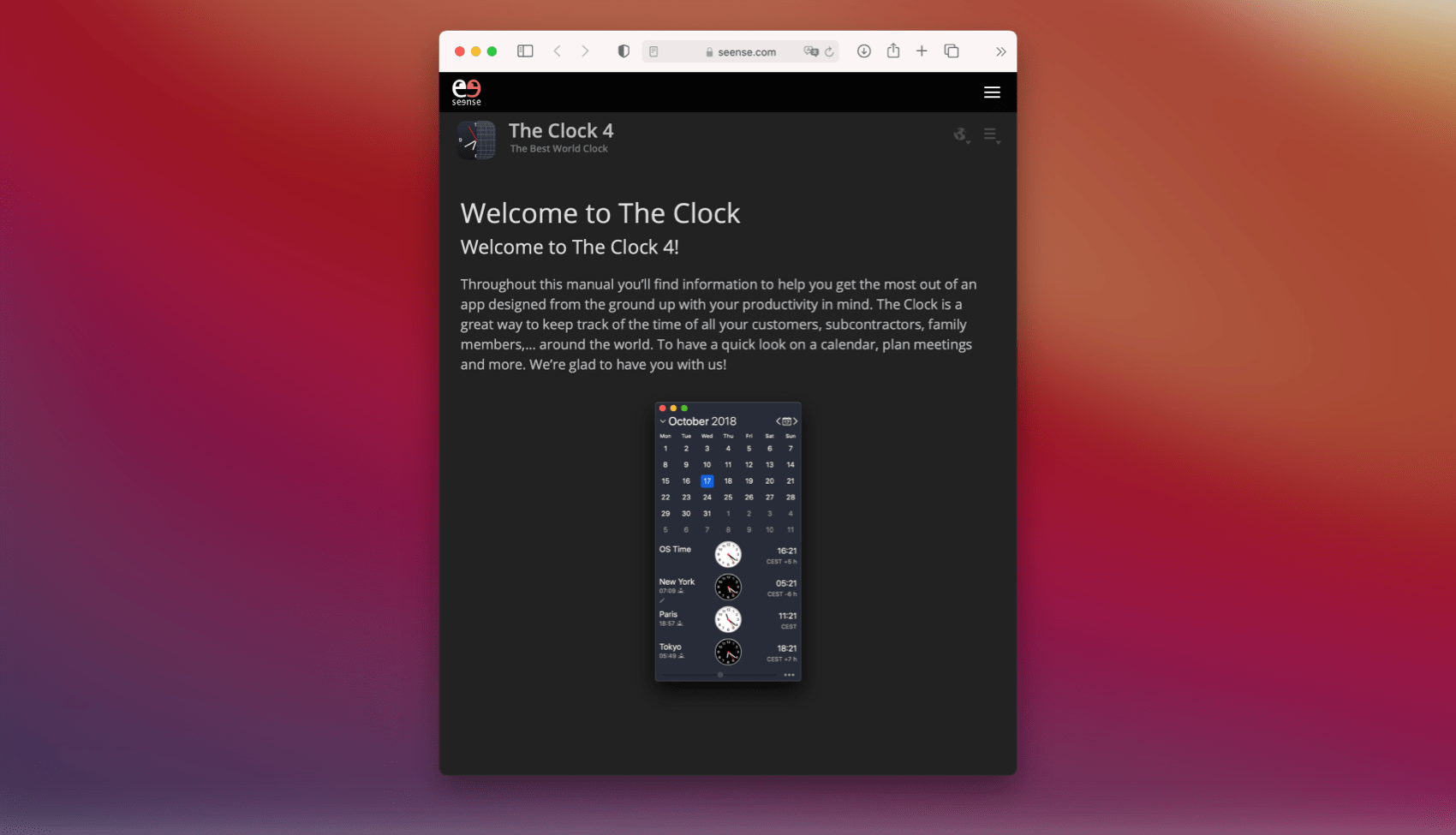 seense | The Clock for macOS
